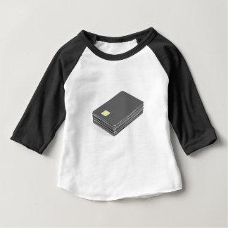 Camiseta Para Bebê Pilha com os cartões plásticos vazios com
