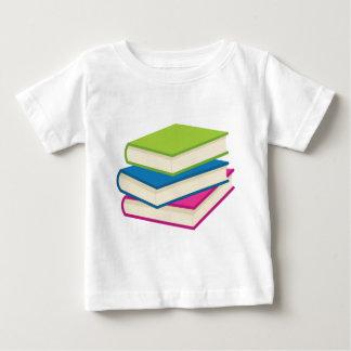 Camiseta Para Bebê Pilha de livros