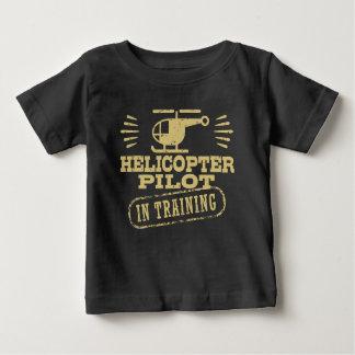 Camiseta Para Bebê Piloto do helicóptero no treinamento