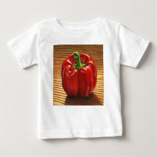 Camiseta Para Bebê Pimenta de Bell vermelha
