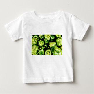Camiseta Para Bebê Pimentas de Bell verdes