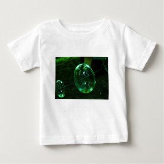 Camiseta Para Bebê Pingo de chuva do vidro verde