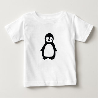 Camiseta Para Bebê Pinguin preto e branco simples