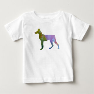 Camiseta Para Bebê Pinscher do Doberman