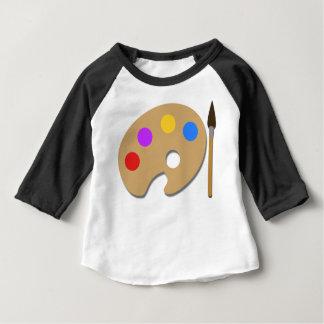 Camiseta Para Bebê Pinte a paleta e escove-a