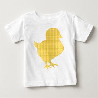 Camiseta Para Bebê Pintinho moderno da páscoa