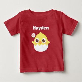 Camiseta Para Bebê Pintinho pequeno bonito que choca do T do bebê do