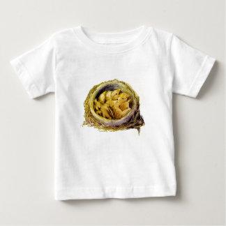 Camiseta Para Bebê Pintinhos do vintage
