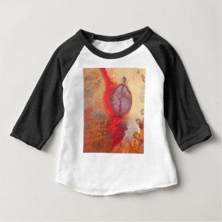Camiseta Para Bebê Pintura a óleo do abstrato da dança do fogo