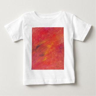 Camiseta Para Bebê Pintura abstrata nos vermelhos - incêndio violento