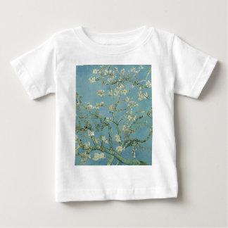 Camiseta Para Bebê Pintura floral da flor da amêndoa de Vincent van