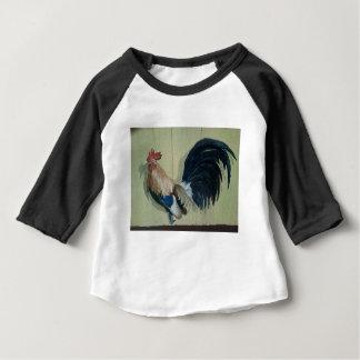 Camiseta Para Bebê Pintura mural do galo do berçário