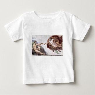 Camiseta Para Bebê Pintura original de Michelangelo na capela Roma do