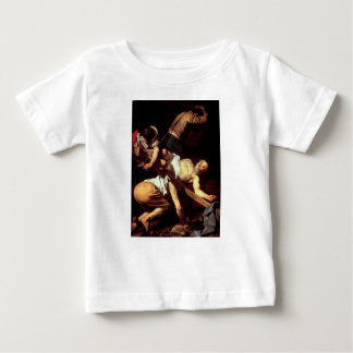 "Camiseta Para Bebê Pintura original ""La crocifissione di s Pietro """