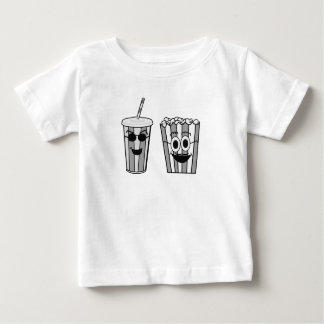 Camiseta Para Bebê pipoca e soda