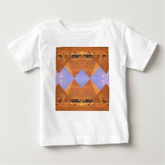 Camiseta Para Bebê Pirâmides psicadélicos