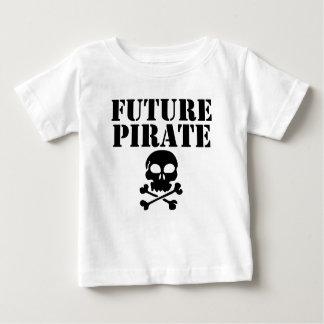 Camiseta Para Bebê Pirata futuro