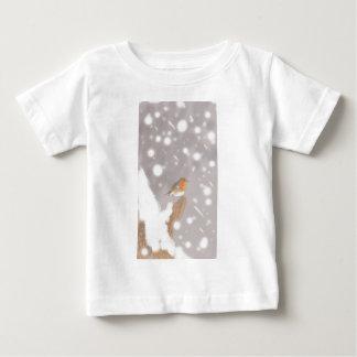 Camiseta Para Bebê Pisco de peito vermelho