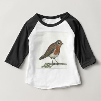 Camiseta Para Bebê Pisco de peito vermelho dos multimédios