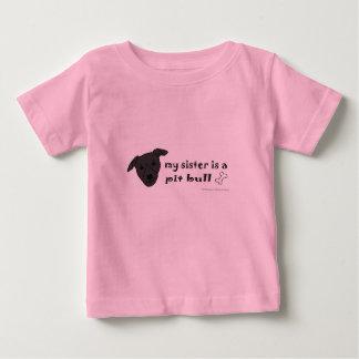 Camiseta Para Bebê pitbull