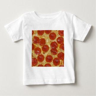 Camiseta Para Bebê pizza de pepperoni grande