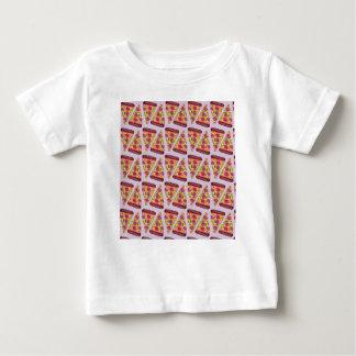 Camiseta Para Bebê pizza floral