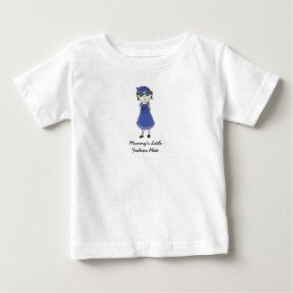 Camiseta Para Bebê Placa de forma da mamã pouca