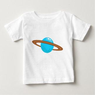 Camiseta Para Bebê Planeta azul
