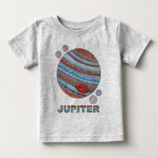 Camiseta Para Bebê Planeta Jupiter de Z e forma do geek do espaço das