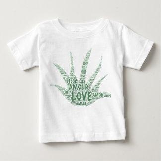 Camiseta Para Bebê Planta de Alove Vera ilustrada com palavra do amor