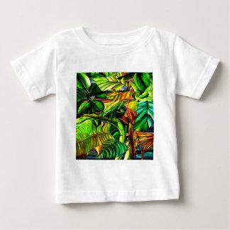 Camiseta Para Bebê Plantas tropicais
