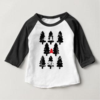 Camiseta Para Bebê Plante o teste padrão da árvore de A