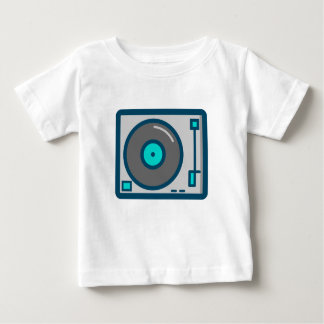 Camiseta Para Bebê Plataforma giratória do DJ