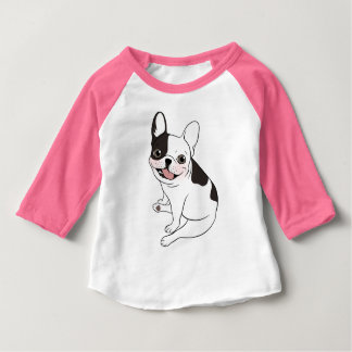 Camiseta Para Bebê Playtime do divertimento para o único Frenchie