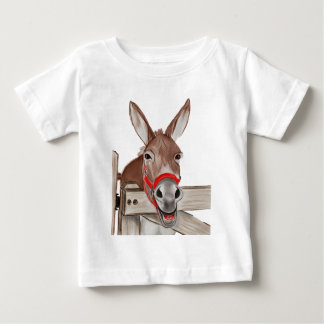 Camiseta Para Bebê Png feliz da mula