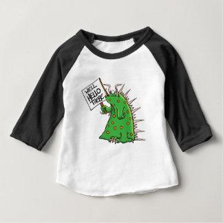 Camiseta Para Bebê Poço do gráfico de Greep olá! lá