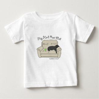 Camiseta Para Bebê poço duro do resto do jogo preto do laboratório