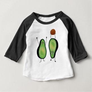 Camiseta Para Bebê Poço engraçado do verde do handstand dos aplausos