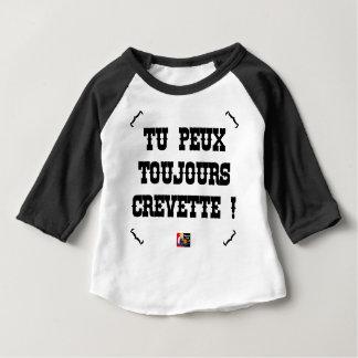 Camiseta Para Bebê PODES SEMPRE CAMARÃO! - Jogos de Palavras