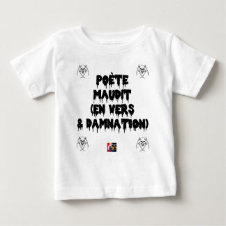Camiseta Para Bebê Poeta maldiz (em PARA E DAMNATION) - Jogos de