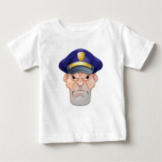 Camiseta Para Bebê Polícia irritado médio dos desenhos animados