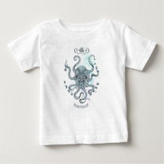 Camiseta Para Bebê Polvo - clube 76 de sal - para baixo pelo mar