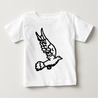 Camiseta Para Bebê Pomba de voo