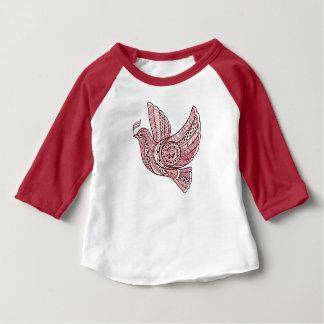 Camiseta Para Bebê Pomba do Natal
