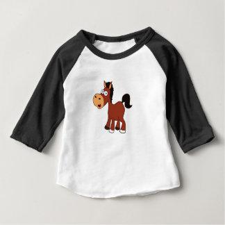 Camiseta Para Bebê pônei vermelho do cavalo
