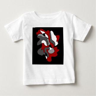 Camiseta Para Bebê Ponto criativo - vermelho