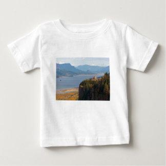 Camiseta Para Bebê Ponto da coroa no desfiladeiro do Rio Columbia OU