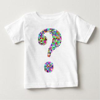 Camiseta Para Bebê Ponto de interrogação do Splatter do arco-íris