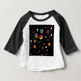 Camiseta Para Bebê Pontos coloridos
