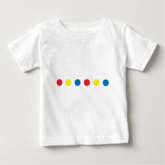 Camiseta Para Bebê Pontos da cor